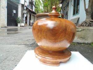 Bình phú quý gỗ hương nguyên khối