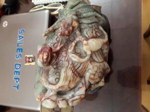 Tượng Ngọc cổ quý hiếm tam tài ba màu nặng 10 kg