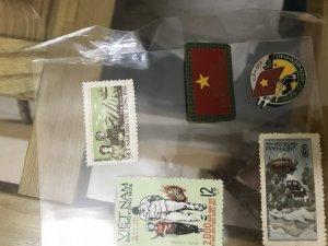 giao lưu tem binh sĩ lá mạ