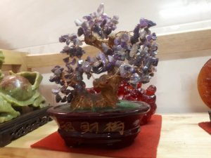 Cây nhiều hoa bằng đá quý  tự nhiên