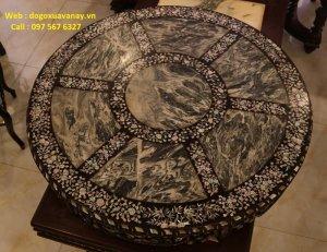 bộ bàn ghế tròn khảm ốc kiểu miền Tây.JPG