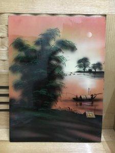 Tranh phong cảnh sông nước, sơn...
