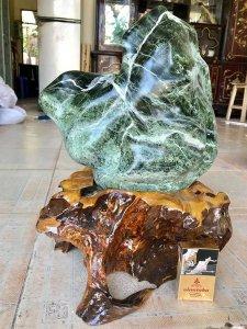 Em bán đế Gỗ và đá, cao 43cm,...