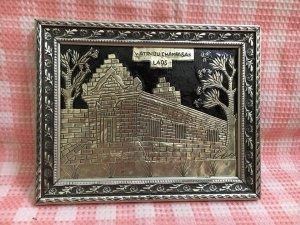 Tranh khảm bạc Champasak Laos, cũ hiện trạng như hình
