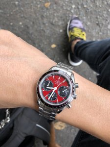 Omega Speedmaster Racing RED Dial size 40mm