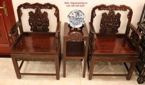 bộ bàn ghế gỗ trắc cũ tại hà nội.JPG