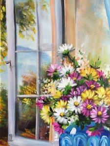Bên ô cửa sổ