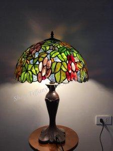 Đèn Bàn Tiffany Họa Tiết Chùm Nho