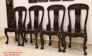 bộ bàn ăn kiểu cổ gỗ gụ.JPG