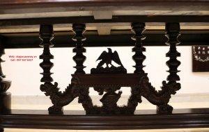 bộ bàn sư tử xưa gỗ mật.JPG