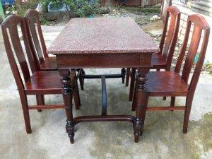 Bộ bàn ăn 4 ghế xưa