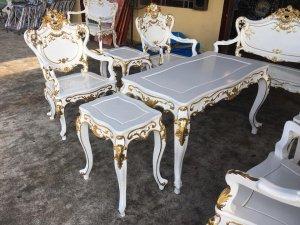 ghế louis gỗ gụ thiếp vàng