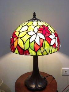 Đèn Ngủ Tiffany Họa Tiết Hoa Lá
