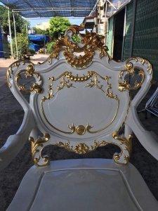 Bàn Ghế Louis Hoa Lá Tây Dát Vàng