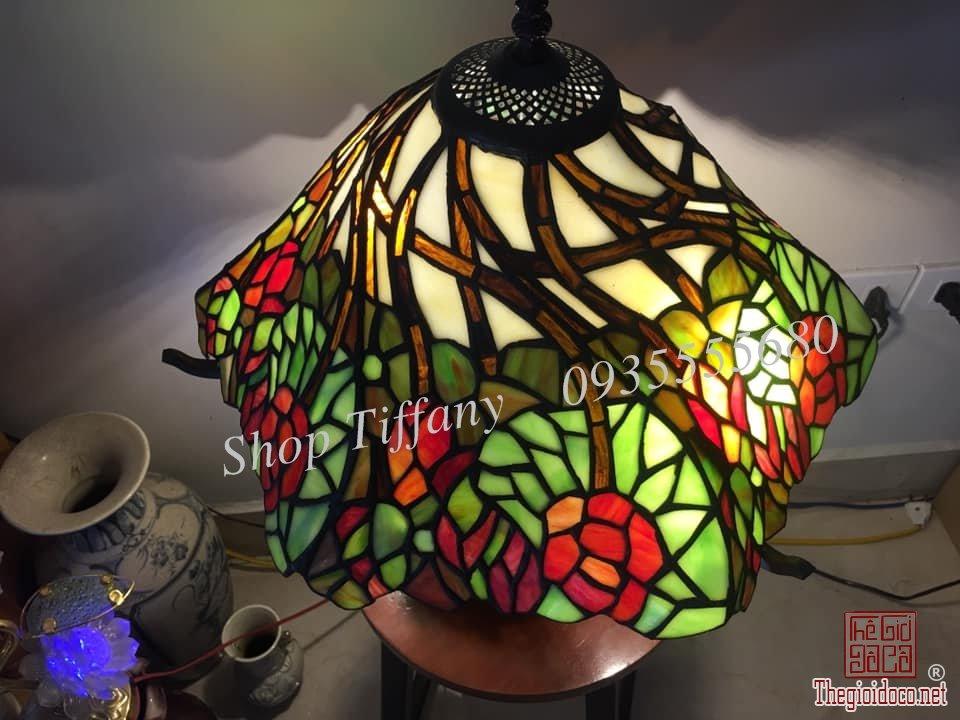 Đèn Nấm Tiffany Họa Tiết Hoa Hồng