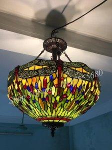 Đèn Trần Tiffany Họa Tiết Chuồn...
