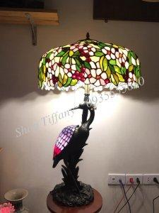 Đèn Bàn Tiffany Hạc Đá đúc