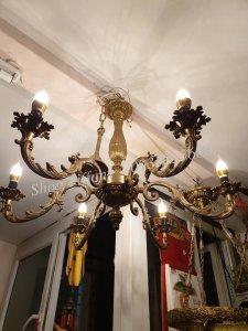 Đèn Chùm Đồng cổ Châu Âu