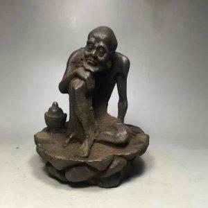 Tượng La Hán bằng sắt cổ.Kích...