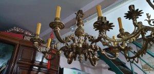Đèn Đồng Chùm 8 tay Cổ Châu Âu