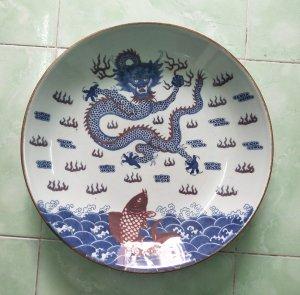 Đĩa cá chép hóa rồng Khang Hy...