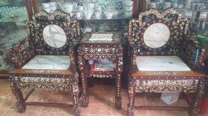 Bộ ghế quách 3 món gỗ mật
