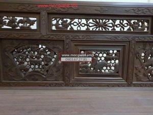 Bộ trường kỷ Huế làm bằng gỗ gõ mật