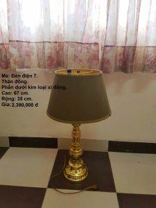 Đèn điện thân Đồng, chụp vải