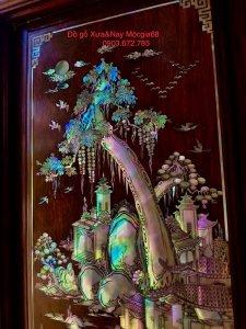 Siêu phẩm tủ thờ khảm ốc gỗ cẩm...