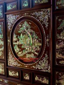 Siêu phẩm tủ thờ được đóng bằng gỗ cẩm lai Việt siêu vân (4).jpg