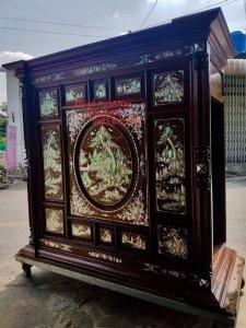 Siêu phẩm tủ thờ được đóng bằng gỗ cẩm lai Việt siêu vân (7).jpg