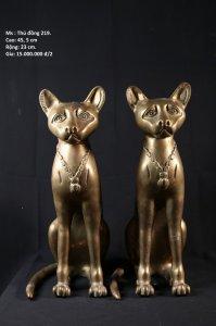 Cặp mèo bằng đồng