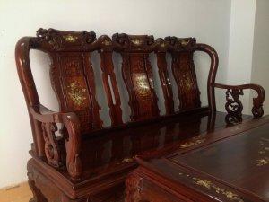 Bộ ghế gỗ cẩm lai việt