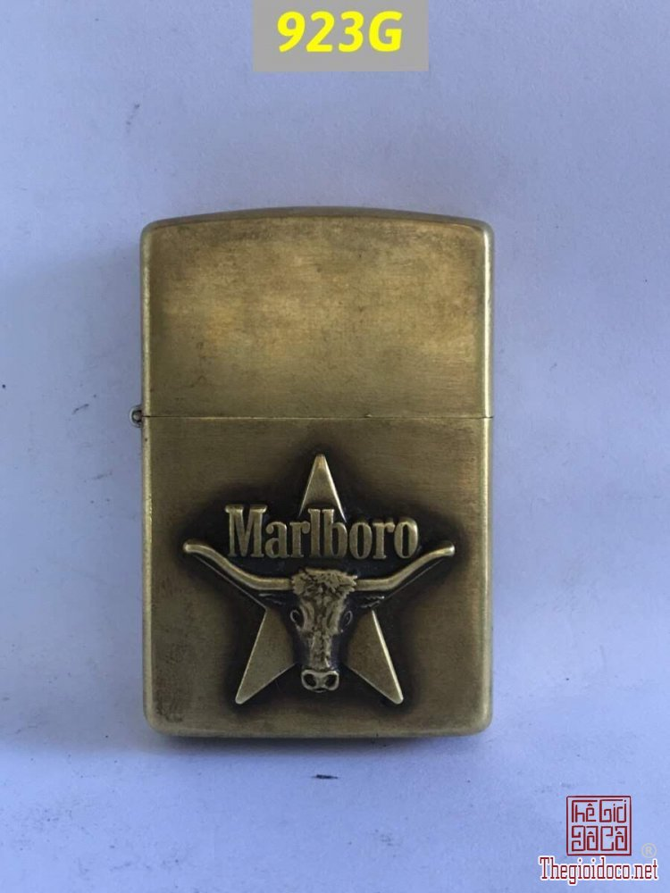 923G-solid brass 1992 -MARLBORO LONG HORN