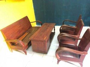 Bộ bàn ghế salon thùng gỗ hàng...
