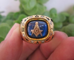 Nhẫn bạc khối Masonic đẹp xuất sắc.
