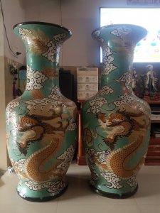 Cặp bình gốm Biên Hòa...