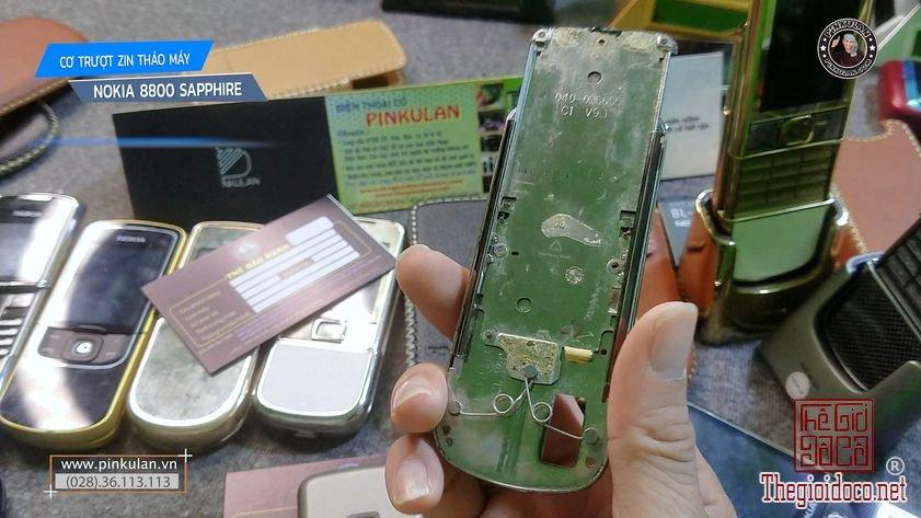 Cơ trượt zin Nokia 8800 Shaphire tháo máy