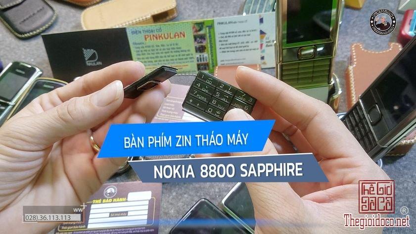 Bàn phím Nokia 8800 Sapphire nguyên zin tháo máy
