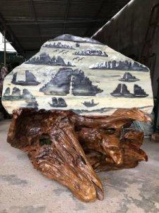 Ms 9589.Tranh Vịnh Hạ Long đá...