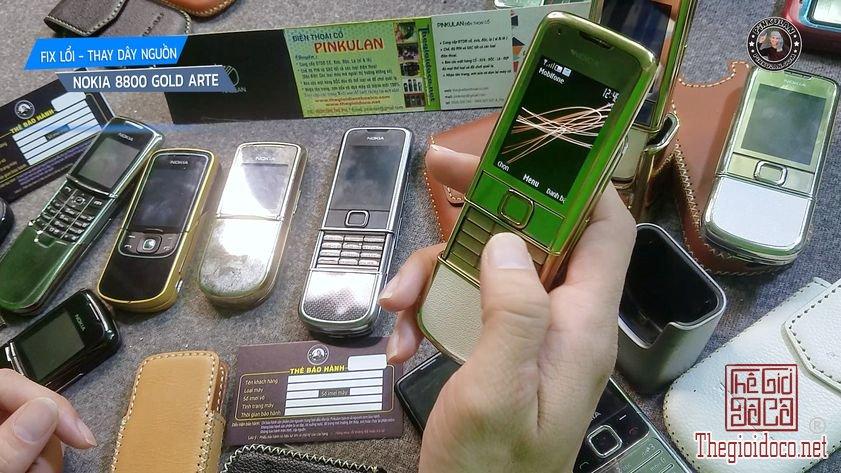 Fix lỗi – Thay dây nguồn Nokia 8800 Arte Gold chính hãng