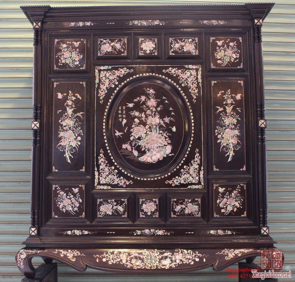 Tủ thờ Huế khảm ốc tứ quý bốn mùa - hàng hiếm, đẹp
