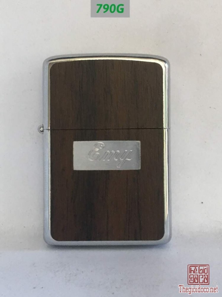 790G hp chrome chữ xéo 1979 -Ốp gỗ 2 mặt,ô khắc tên khắc chữ EMY