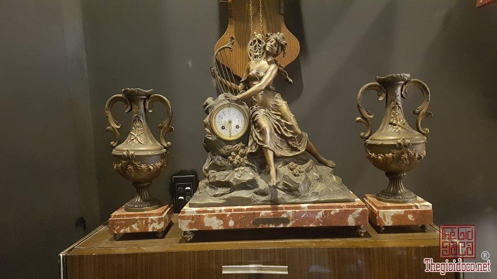 Bán bộ đồng hồ tượng đồng 3 món của Pháp