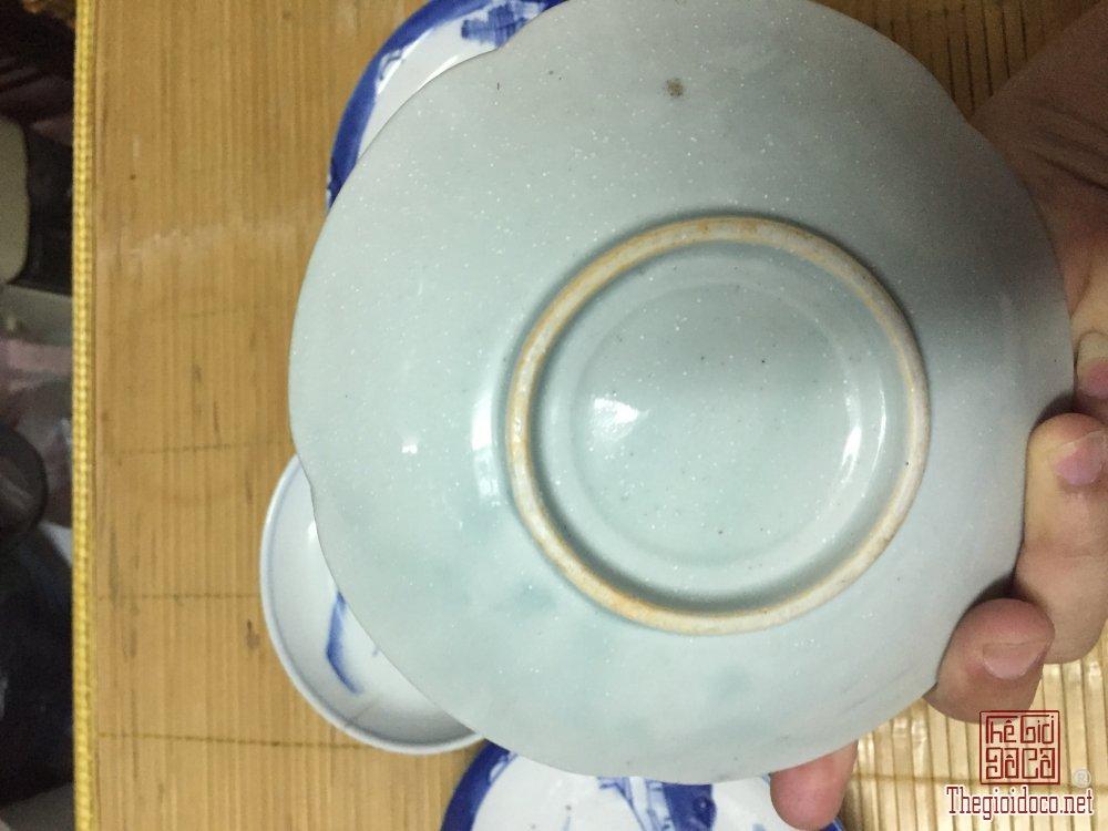 Giao lưu 05 chiếc đĩa 1 cái 13cm 3 cái 17cm và 1 cái 19cm đồ cũ xưa của nhật