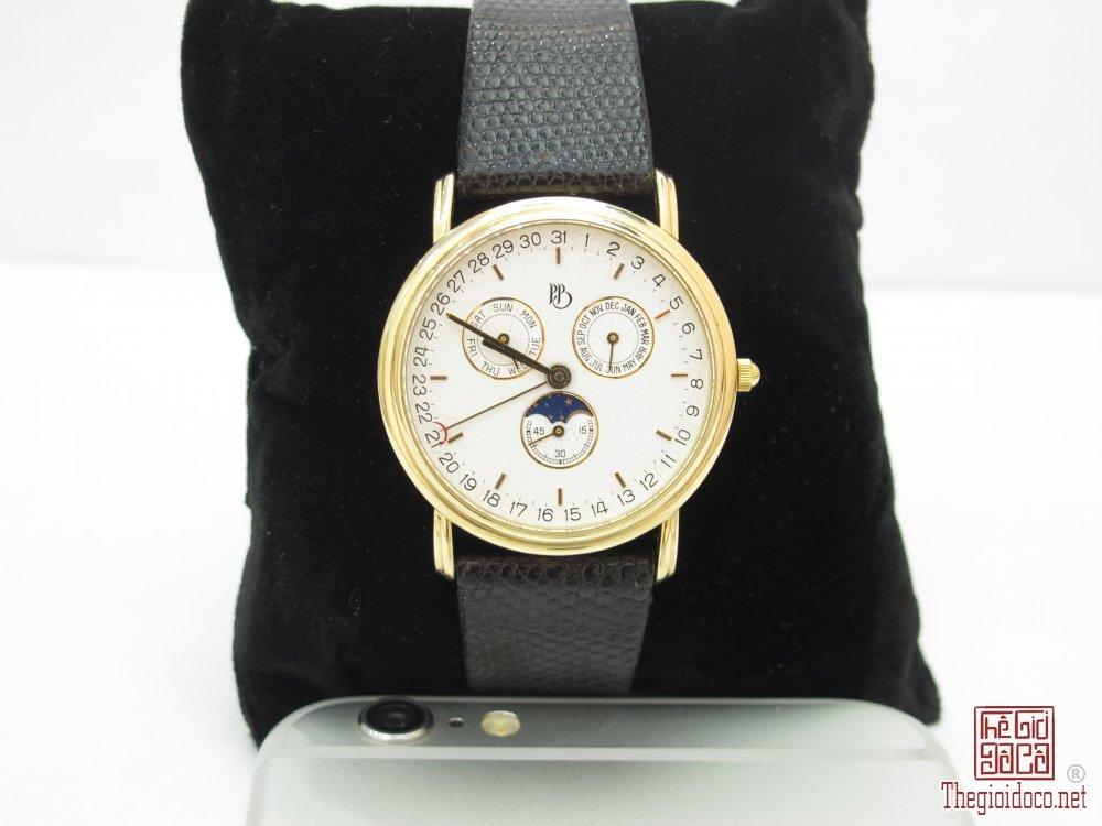 Đồng hồ PB Paul Breguette vàng khối 14k. 6 kim Full lịch vạn niên.