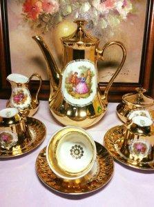 Bộ ấm trà mạ vàng 24k