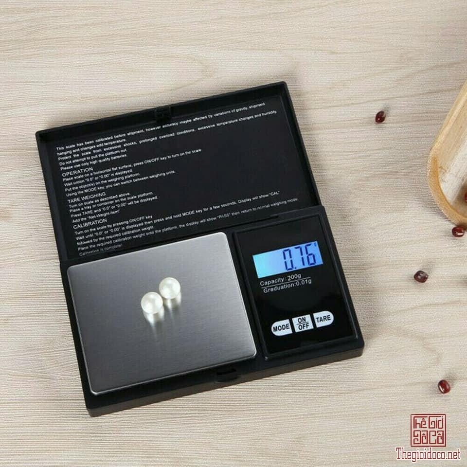 Cân điện tử mini 0.01g / 200g màn hình LCD
