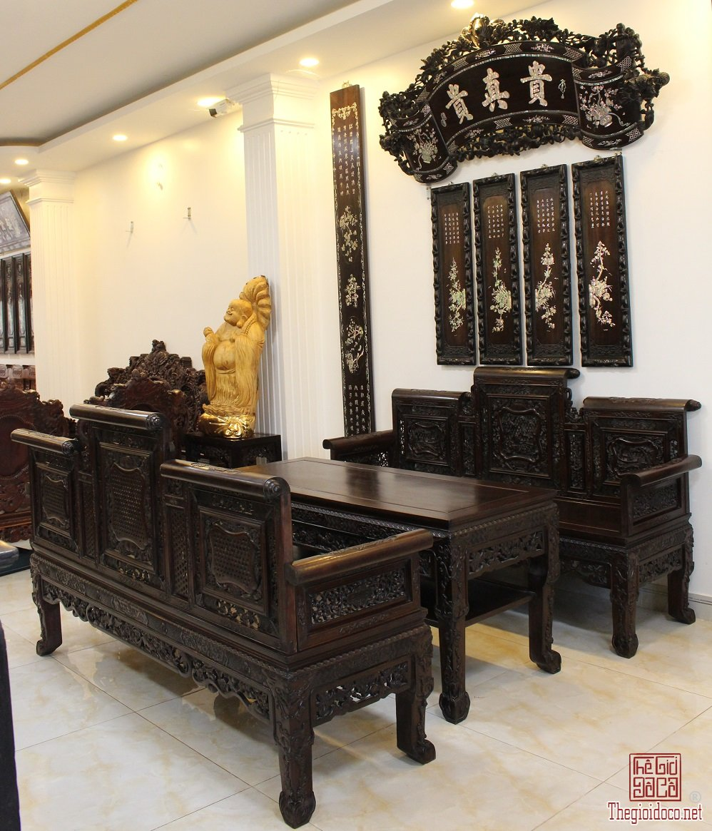 Trường Kỷ Huế Vai Lật Loại Đại - Rất Cổ Kính và Sang Trọng .