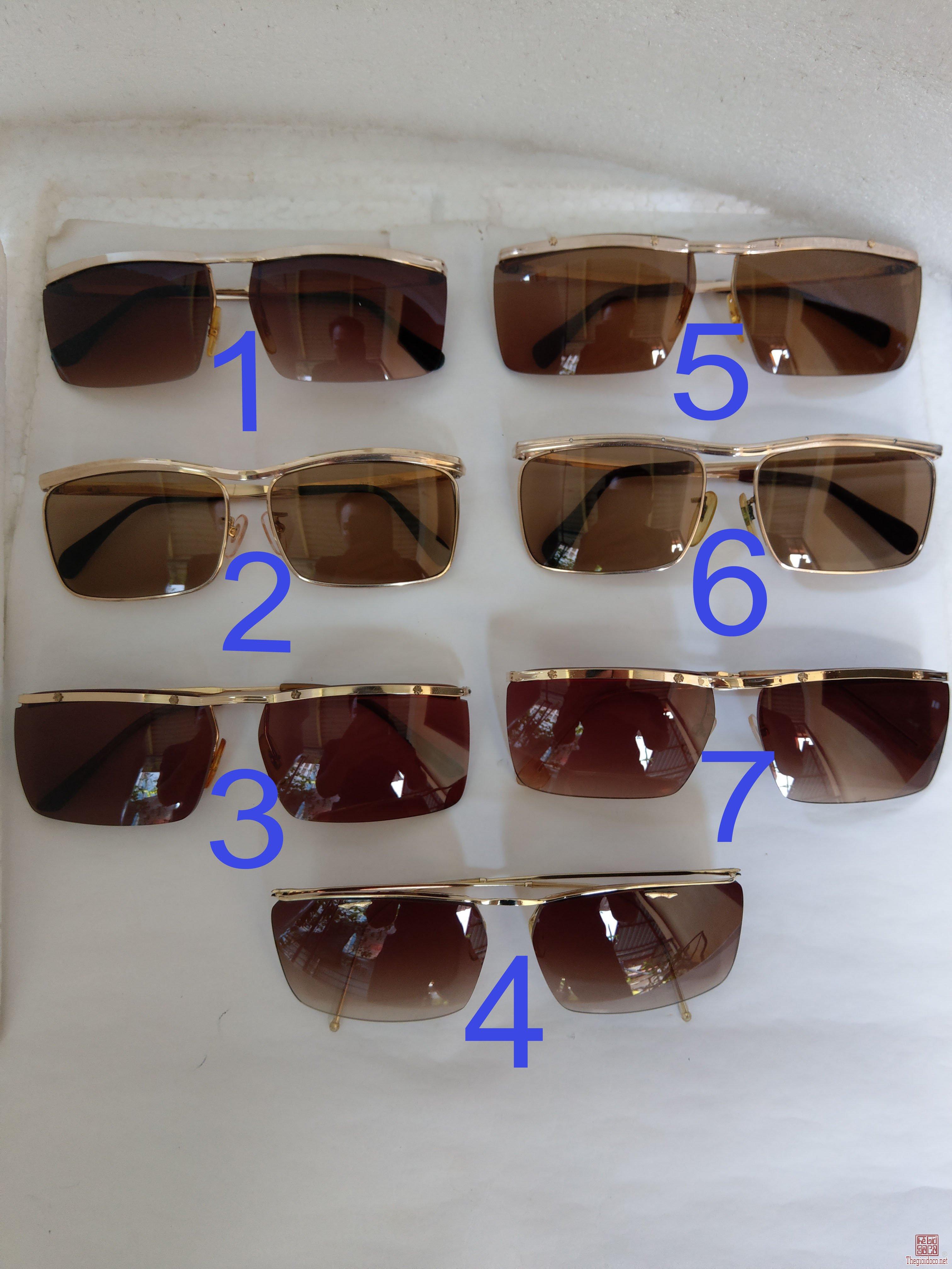 Giàn mới về kính cổ mạ vàng bọc vàng có đầy đủ các thương hiệu nổi tiếng trên toàn thế giới..vv